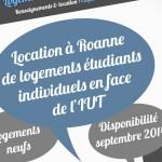 Location de logements étudiants à Roanne