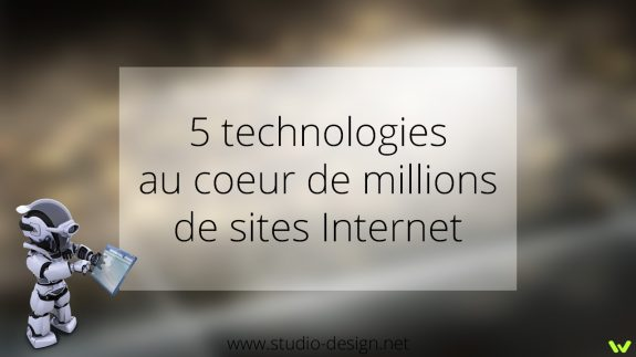 5 technologies sites internet
