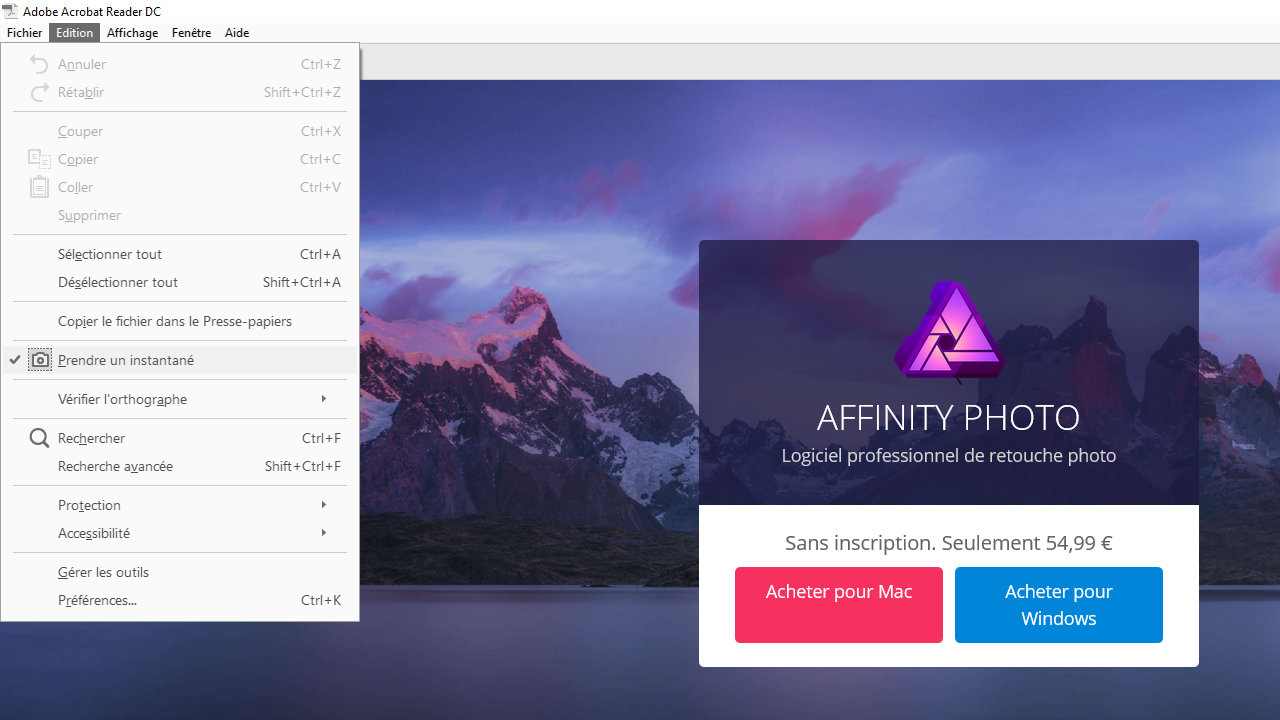 Affinity Photo remplacer les polices pdf