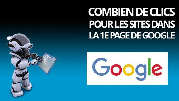Combien de clics pour les sites dans la 1e page de google