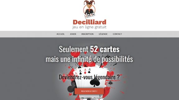 Decilliard, jeu de cartes gratuit en ligne