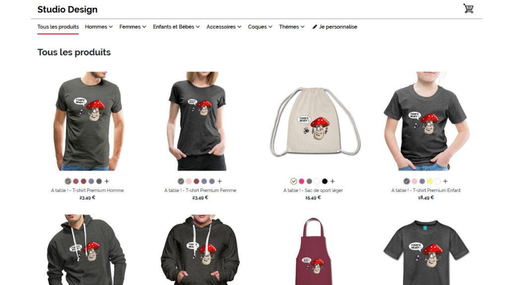 Boutique de t-shirts